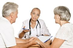 Elderly patients couple Royalty Free Stock Image