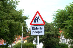 Elderly people crossing sign Royalty Free Stock Photography