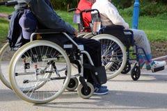 Free Elderly People In Wheelchairs Stock Photo - 162941290