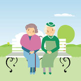 Elderly people in nature Stock Images