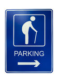 Elderly people parking sign Royalty Free Stock Photos