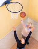 Elderly people playing with ball Royalty Free Stock Images