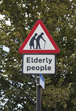Elderly people road sign in London Stock Photos