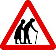 Elderly people sign Royalty Free Stock Photos