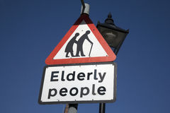 Elderly People Sign Stock Images