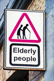 Elderly people sign Stock Image