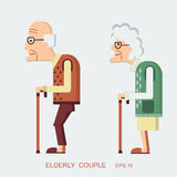 Elderly people Stock Image