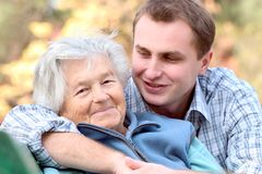 Free Elderly Person With Grandson Royalty Free Stock Photos - 1468458