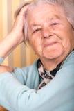 Elderly portrait Stock Photography