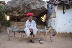 Elderly Rabari tribesman Stock Photos