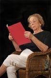 Elderly reader Royalty Free Stock Photography