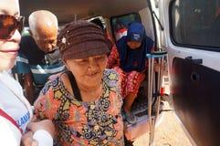 Elderly residents Stock Images
