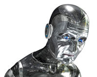 Elderly Robot Portrait - Aging Technology Royalty Free Stock Photography
