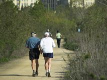 Elderly Runners Stock Images