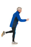 Elderly running man Stock Images