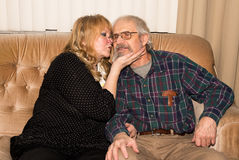 Elderly senior couple. Stock Images