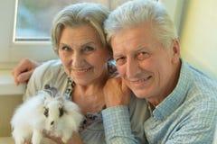Elderly senior couple Stock Photo