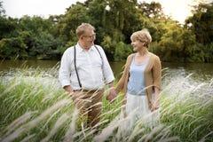 Elderly Senior Couple Romance Love Concept Stock Photography