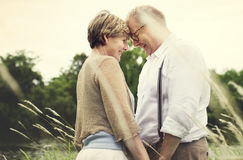 Elderly Senior Couple Romance Love Concept. Elderly Senior Couple Romance Love Royalty Free Stock Photography
