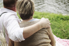 Elderly Senior Couple Romance Love Concept Royalty Free Stock Photography