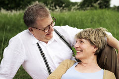 Elderly Senior Couple Romance Love Concept Royalty Free Stock Images