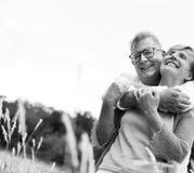 Elderly Senior Couple Romance Love Concept Stock Photo