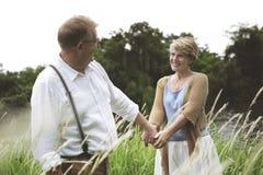 Elderly Senior Couple Romance Love Concept Royalty Free Stock Photo