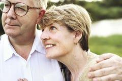 Elderly Senior Couple Romance Love Concept. Elderly Senior Couple Romance Love Togetherness Stock Photography