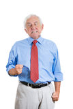 Elderly senior mature guy very angry and upset Stock Photos