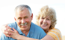Elderly seniors couple Stock Photo