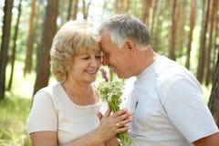 Elderly seniors couple Royalty Free Stock Photos