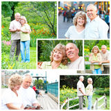 Elderly seniors couple stock photos