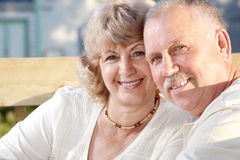 Elderly seniors couple royalty free stock image