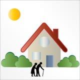 Elderly / Seniors Housing Logo Sign. Business / company logo sign for elderly / seniors housing concept stock illustration