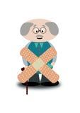 Elderly sick Stock Photo