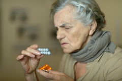 Elderly sick woman Royalty Free Stock Photography