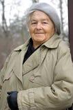 Elderly smile Stock Photo