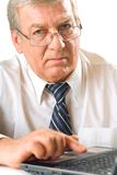 Elderly solid business man Stock Photos