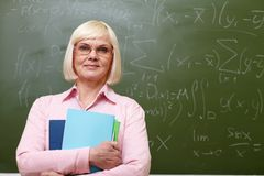 Elderly teacher Stock Image