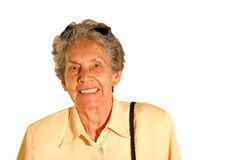 Elderly tourist - isolated Royalty Free Stock Image