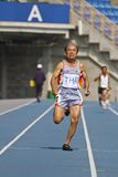 Elderly track and field game Royalty Free Stock Photos