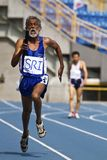 Elderly track and field game Stock Photos