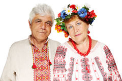 Elderly Ukrainian couple Royalty Free Stock Photography