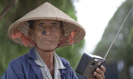 Elderly Vietnamese man Royalty Free Stock Image