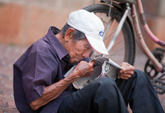 Elderly Vietnamese man Royalty Free Stock Images