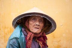 Elderly Vietnamese woman Stock Image