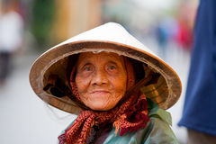 Elderly Vietnamese woman Stock Images