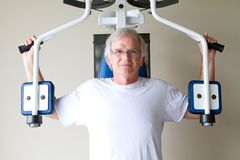Elderly Weight Training Stock Images