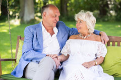 Elderly wife and husband Stock Images