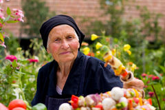 Elderly woman Stock Image